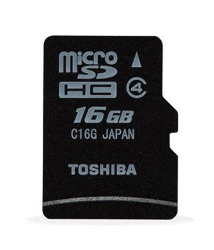 Toshiba 16GB MicroSDHC Class 4 Memory Card
