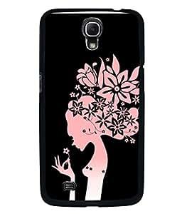 PrintVisa Designer Back Case Cover for Samsung Galaxy Mega 6.3 I9200 :: Samsung Galaxy Mega 6.3 Sgh-I527 (Texture Illustration Theme White Backcase Pouch Pink)