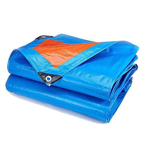 Htyjuk telone impermeabile grande poly tarp a 12 mil heavy duty 175g / m2, copertina reversibile blu/arancio telo impermeabile for mobili da giardino auto hutch trampolino trappola