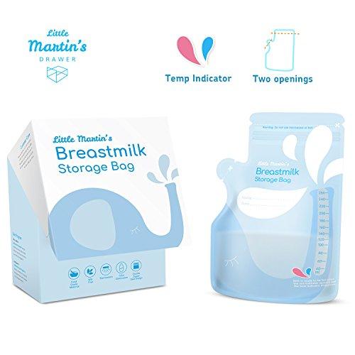 Little Martin's Lot de 60 sachets de rangement pour lait maternel, anti-fuite, sans BPA,...