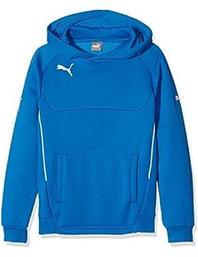 Puma - Sudadera con capucha para niños, Pullover Hoody, Blau (Royal-white), 116