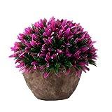 Xuxuou Künstliche Pflanze Künstliche Töpfe Zimmerpflanzen Pflanzen Kunstpflanze Deko Topfpflanze Topf Ornamente für Hochzeit Wohnzimmer Balkon Dekoration (Rosa)