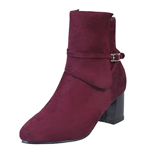 Misssasa Chaussures Femmes Bellina Vin Rouge