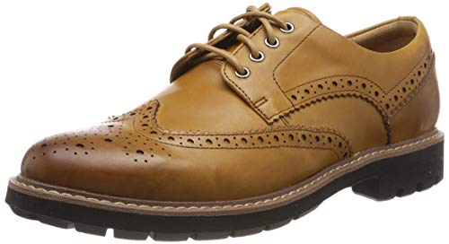 Clarks Herren Batcombe Wing Derbys, Braun (Tan Leather), 43 EU