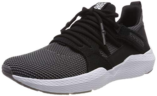 bugatti Herren 341730626900 Slip On Sneaker, Schwarz, 43 EU