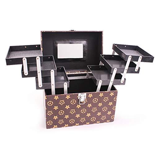 Malette maquillage Beauty case Portable grande capacité Multi-fonction Voyage Boîte de rangement pour cosmétiques Rangement professionnel Bijoux Ongles,1