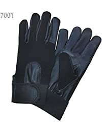 PRIME TOP QUALITY POLICE GLOVES FOR SECURITY SIA FORCES REAL LEATHER WITH SPANDEX MATERIAL - MEDIUM
