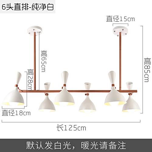 Lampade da camera da letto in ferro battuto semplici lampadari moderni del ristorante nordico sei luce bianca bianca diritta
