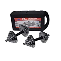 Skyland EM-9227-20 Chrome Dumbbell Set