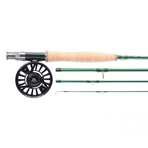 Maxcatch Premier Fliegenfischen Set Fliegenrute (mit Rutentasche)&Avid Fliegenrolle 3/4,5/6,7/8wt (Modell 2, 9' 6wt Rute + 5/6wt Rolle)