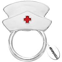 noumanda smalto bianco infermiera porta occhiali di sicurezza Pin Magnetico