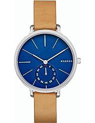Skagen Damen-Armbanduhr Analog Quarz Leder SKW2355