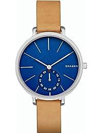 Skagen SKW2355 - Reloj con correa de cuero, para mujer, color azul / negro