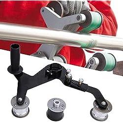 Machine de meulage de ponceuses à bande, tube rond de poignée portative Machine de polissage de meulage de ponceuses à bande pour acier inoxydable