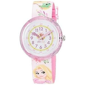 Flik Flak Unisex Erwachsene Analog Quarz Uhr mit Textil Armband FLNP028