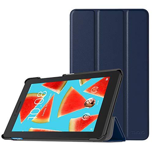 TiMOVO Lenovo Tab E7 Hülle, Ultra Lightweight Slim PU Leder Tasche Schutzhülle Schale Smart Case mit magnetischer Abdeckung für Lenovo Tab E7 7