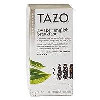 Tazo Awake - English Breakfast Tea (24 Enveloped Tagged Tea Bags) Case of 6