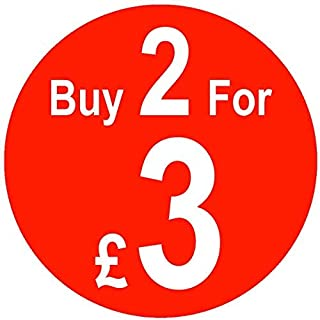 Kaufen X für X Mehrfach-Kauf Preis Aufkleber - Rot, 2 für 3,35mm,200