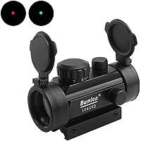 Bumlon Red Green Dot Sight Rifle Scope Reflex Holographic Optics Tactical si apto a 11mm/20mm Rail con Flip Up lente para Airsoft Gun