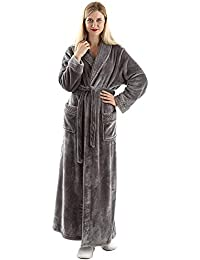 Oksun Dressing Gown Women Full Length Robe Plus Size Fleece Winter Warm  Bathrobe 936c3af35
