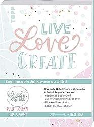Bullet Journal Lovely Pastell Lines & Shapes - Live, love, create: Beginne dein Jahr, wann du willst! Separates Booklet mit Anleitungen und Inspirationen, Blanko-Kalendarium, liebevolle Illustrationen