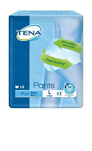 Tena Pants Plus, groß (L) Schutzhosen für mittlere bis starke Blasenschwäche / Inkontinenz, 4er Pack (4 x 8 Stück) - 2