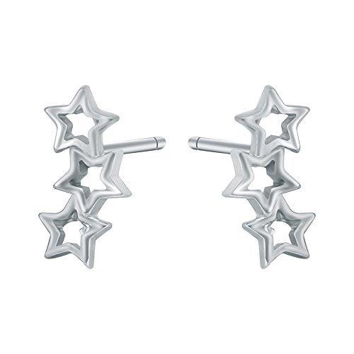 AoedeJ - Pendientes plata ley diseño estrella