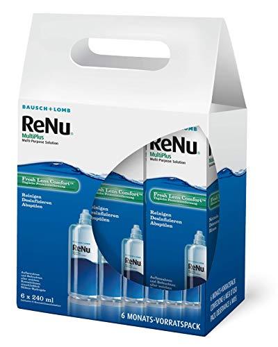ReNu MultiPlus Pflegemittel für weiche Kontaktlinsen, 6-Monatspack, (6 x 240 ml)
