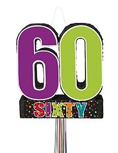 """Partido Ênico""""Cumpleaños Cheer"""" Tire 60mo cumpleaños Cadena Piñata"""