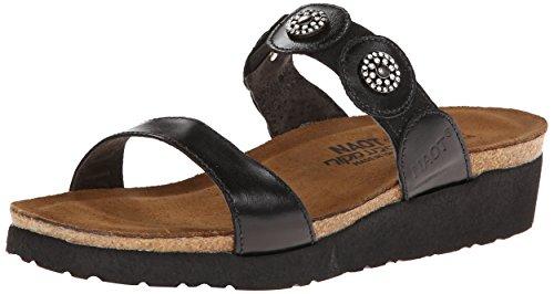 Naot Marisa 04409 Damen Sommerschuhe Pantoletten Black Madras Leather