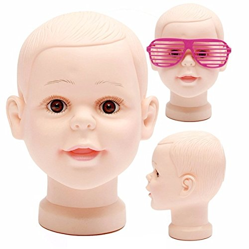 Bluelover Kinder Puppen Puppe Kopf Perücke Hair Hut Mütze Brille Display PVC...