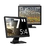 C1st 17 Zoll 5:4 Displayfilter Anti-Peeping Blickschutzfilter Sichtschutz Sichtschutzfolie 13,35x10,67zoll/339x271mm Strahlenschutz Blendschutz Computer Bildschirm Displayschutz