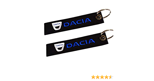 Dacia Doppelseitiger Schlüsselanhänger 1 Stück Auto