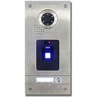 Anthell Electronics AE Farb-Videotürsprechanlage m. Fingerprint 1 Fam. - Außeneinheit, Edelstahlfrontplatte, 1 Familie, Fingerprint Leser, Unterputzmontage, AP Montage opt. with Art. 107611 mö