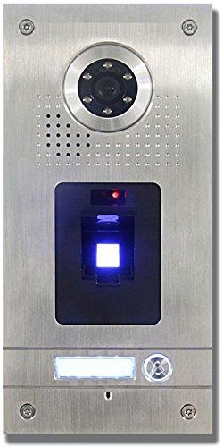 Preisvergleich Produktbild AE Farb-Videotürsprechanlage mit Fingerprint 1 Familie, Außeneinheit, Edelstahlfrontplatte, Leser, Unterputzmontage, silber, SAC562C-CKZ(1)