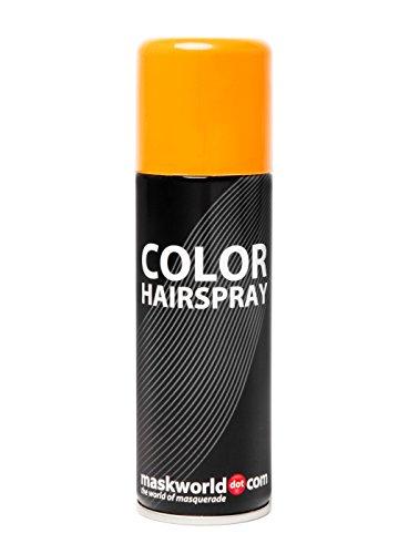 Maskworld Color Hairspray - farbiges Haarspray bunt Colorspray (Orange)