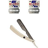 Navaja Rasuradora SHAVETTE Barbera de Afeitar Parker Acero y Pasta + 10 Hojillas 100PTW