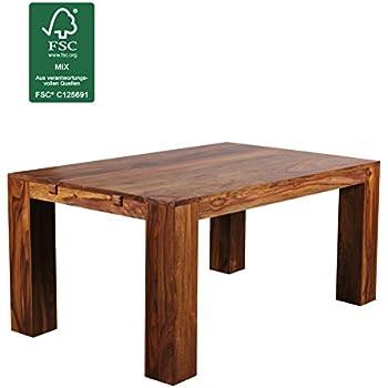 Holztisch design esstisch  FineBuy Esstisch Massivholz Sheesham 160 - 240 cm ausziehbar ...