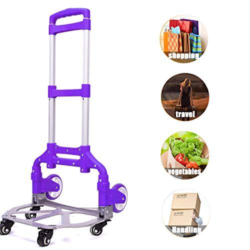 ORPERSIST Sackkarre Klappbar Gepäckwagen. Multifunktional Einkaufstrolley. für Getränkekisten. Transporthilfe mit Metallrahmen. Lila