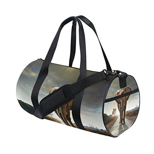 jstel Elefant Road und Sun Sports Gym Tasche für Frauen und Herren Duffle Reisetasche -