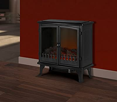 Supawarm Free Standing Electric Fire With 2 Door & Log 1800w
