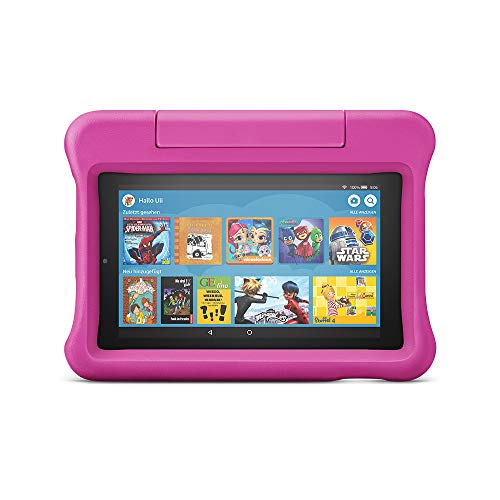 Fire 7 Kids Edition-Tablet, 7-Zoll-Display, 16 GB, pinke kindgerechte Hülle