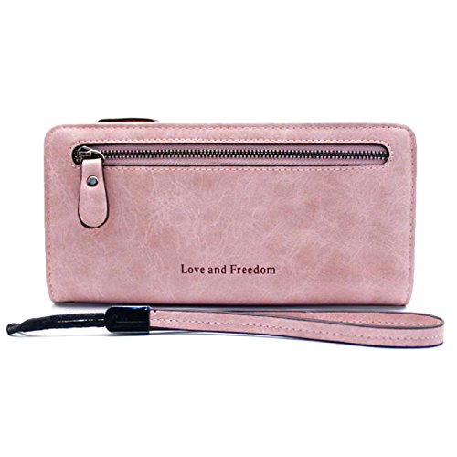 Gr8Life Damen Geldbörsen Lange Portemonnaie Rosa