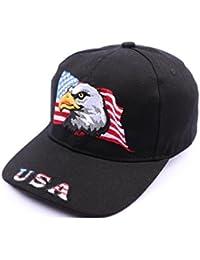 Casquette Aigle drapeau USA Noir - Mixte