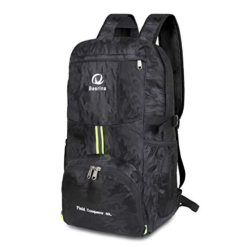 Sports & Entertainment Enthusiastic Travel Backpack Waterproof Large Capacity Breathable Nylon Outdoor Mountaineering Bag Diamond Shaped Folding Backpack