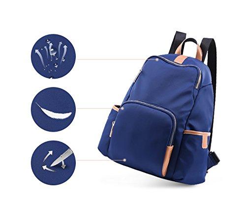 Bwiv Damen Rucksäcke Oxford Cloth Schulrucksack Vintage Schultertasche Daypack Outdoor Backpack Tasche für Retro Reisetaschen Lässige Lila Blau