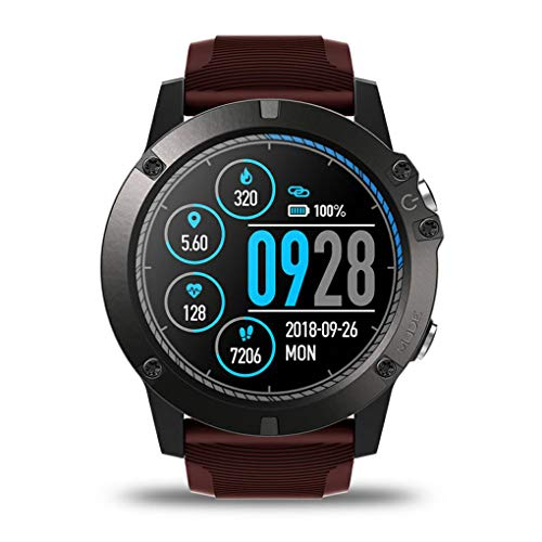 traline Kompatibel für Android/iOS Smart Watch Heart Rate IP67 wasserdichte Bluetooth 4.0 Sport Smartwatch - Sensor Basketball Smart Der