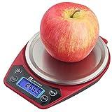 QMKJ Bilancia Elettronica Scala di Cottura in Acciaio Inox Bilancia da Cucina per Uso Domestico 1KG Misura in g oz GN CT DWT ozt