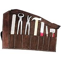 AMKA Amesbichler–En Estuche de Cuero 8piezas herramientas Herradura Herraje Set, juego para el cuidado HUF   farriers Horse Hoof Set