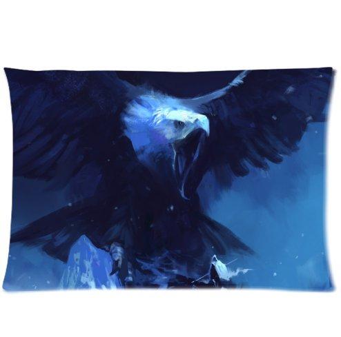 buythecase-unique-fashion-pillowcase-design-mountains-eagle-giant-man-wings-wingspan-snow-blizzard-n